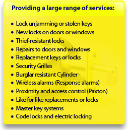 Prompt locksmith service in South Kensington